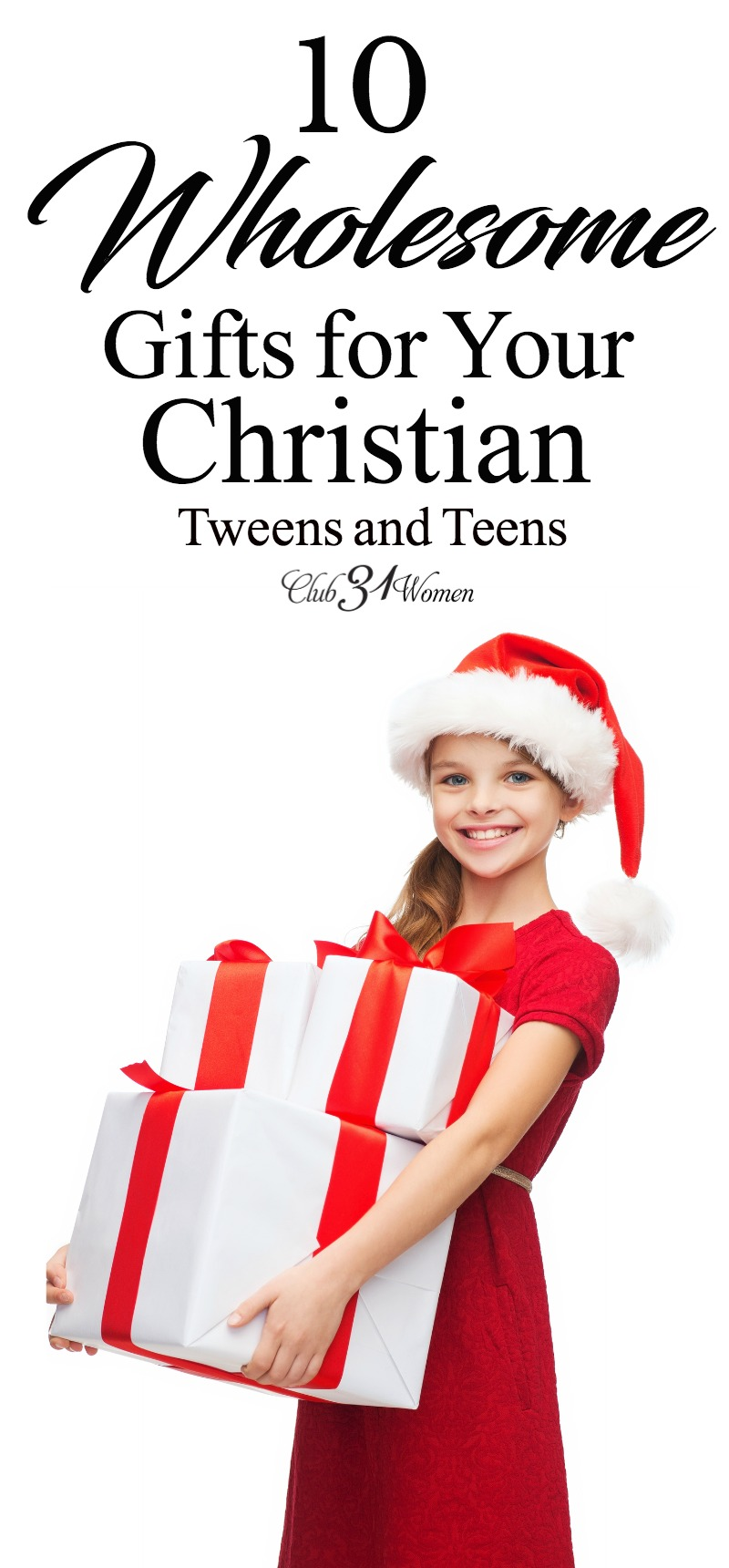 Finding wholesome gift options for older kids is no easy feat! That's why I'm so happy to share this list of great ideas for Christian tweens and teens! via @Club31Women