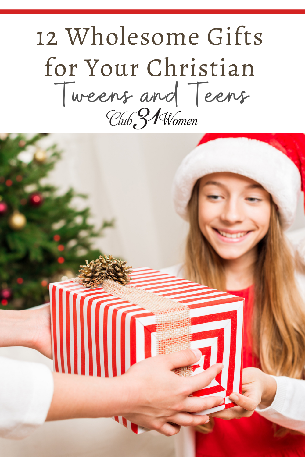 Finding wholesome gift options for tweens and teens is no easy feat! That's why I'm so happy to share this list of great ideas for older Christian kids! via @Club31Women