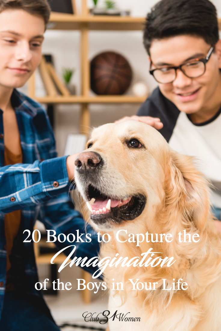 Do the boys in your life enjoy reading?  What books have captured their attention?  How have you encouraged that love of reading in their lives? via @Club31Women