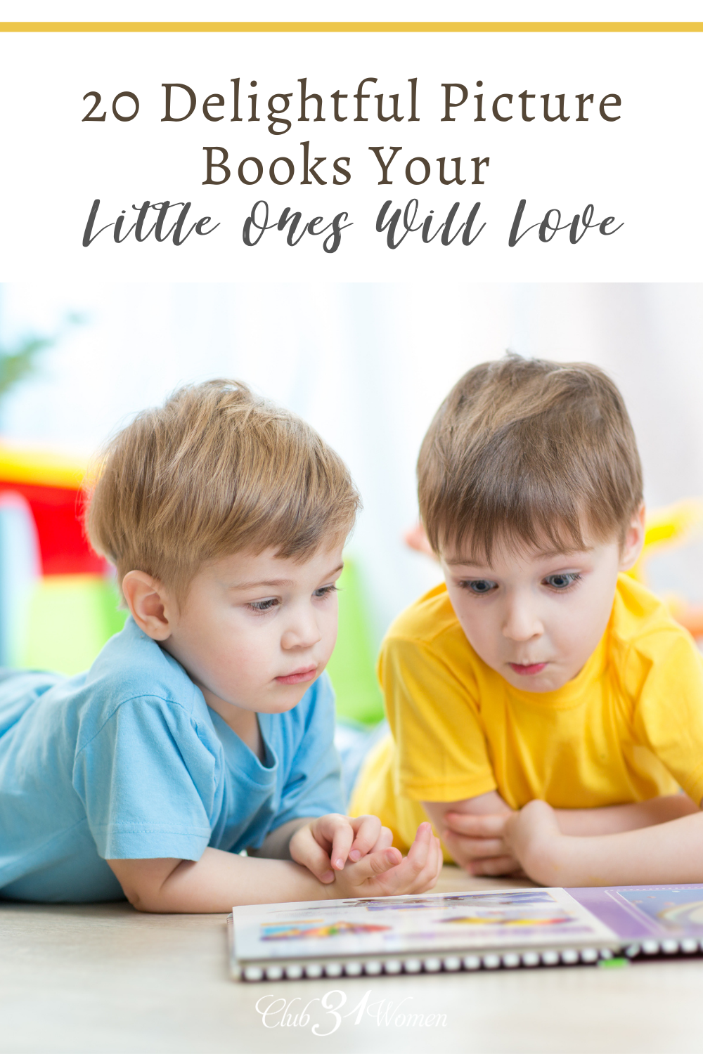 Round up your littles and stack up on these delightful picture books to read together! They are sure to engage your littles! via @Club31Women