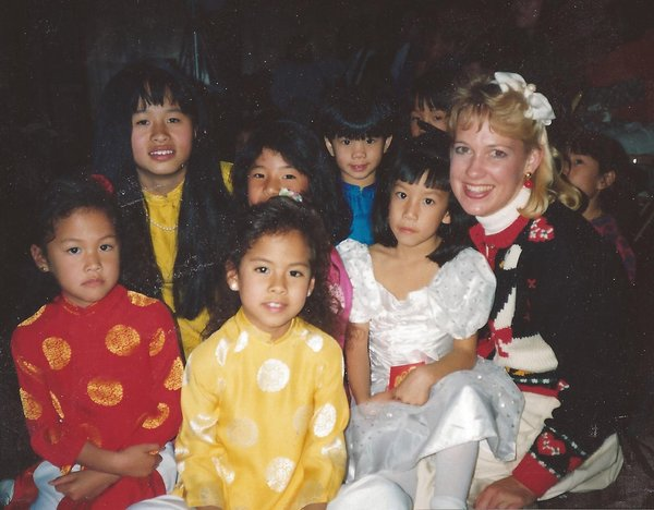 Lisa with Vietnamese Children