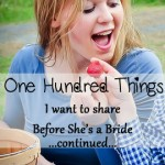 One Hundred Things – Continued