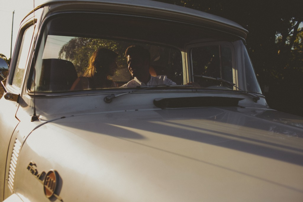 Proposal in Old Car