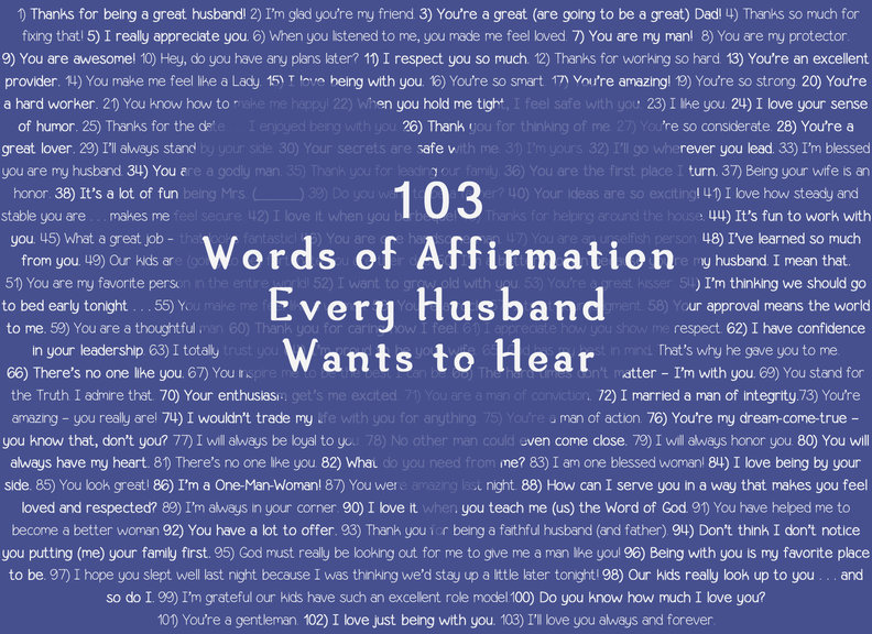 103 Words of Affirmation