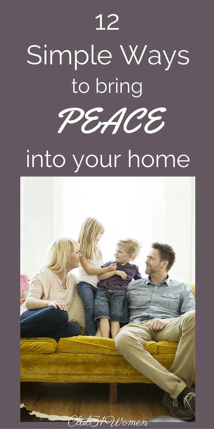 12 Simple Ways to Bring Peace into Your Home