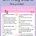 Free Printable: 32 Tips for Moms With Young Children