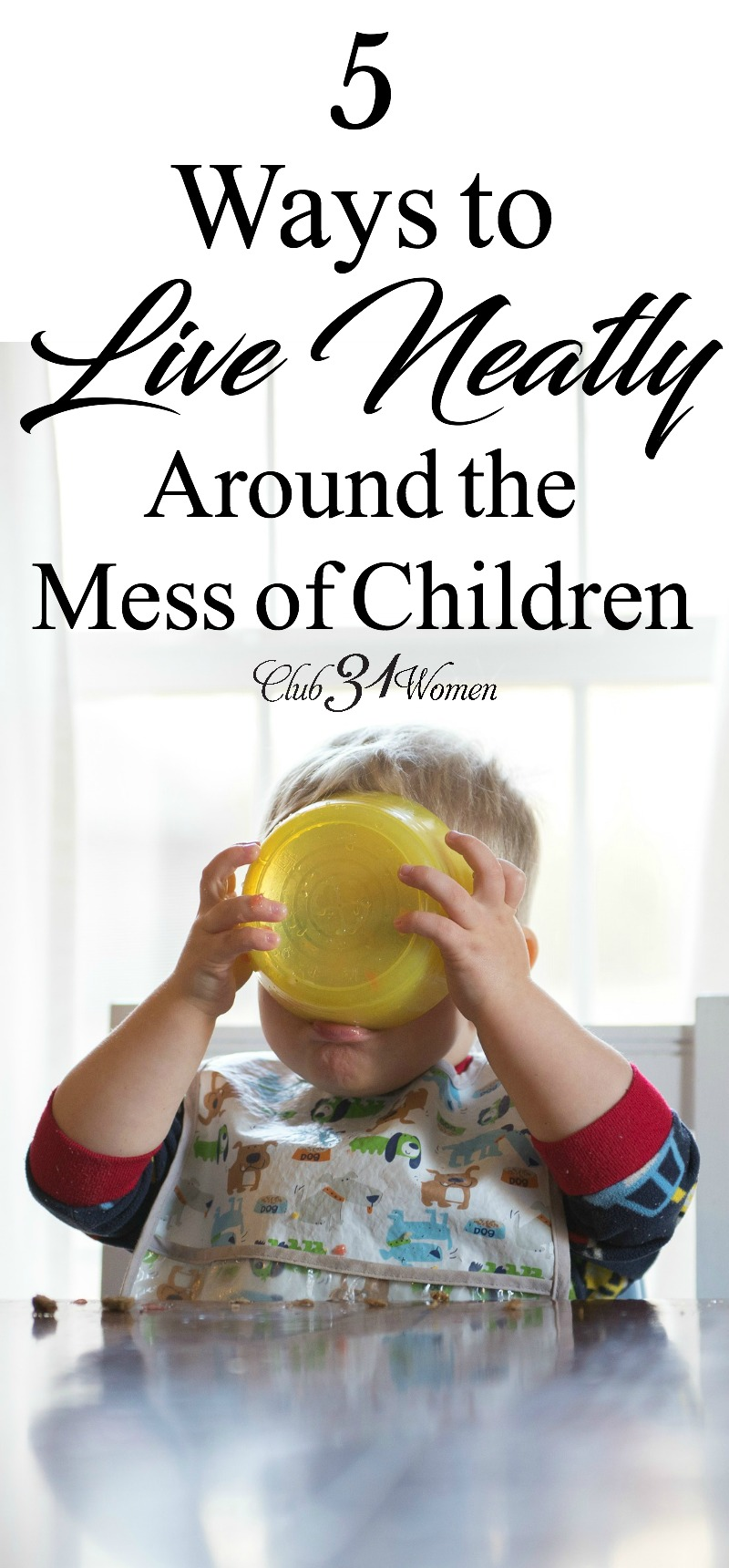 Having children can wreak havoc on a clean home, no doubt. So how can we keep up with the mess so we aren't constantly living in chaos? via @Club31Women