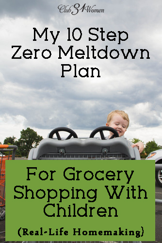 My 10 Step Zero Meltdown Plan for Grocery Shopping With Children