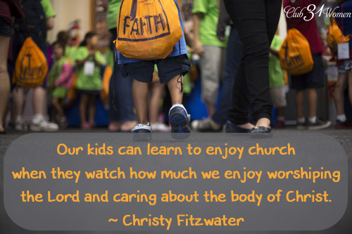 Our Kids Can Learn to Enjoy Church