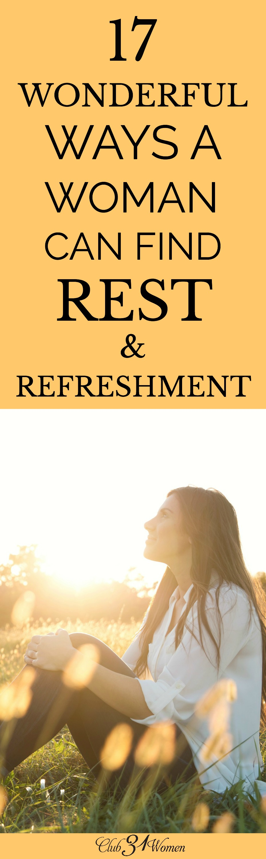 Do you ever find yourself poured out? Run-down and done in? Here are 17 creative ways that you can be renewed and refreshed today! via @Club31Women