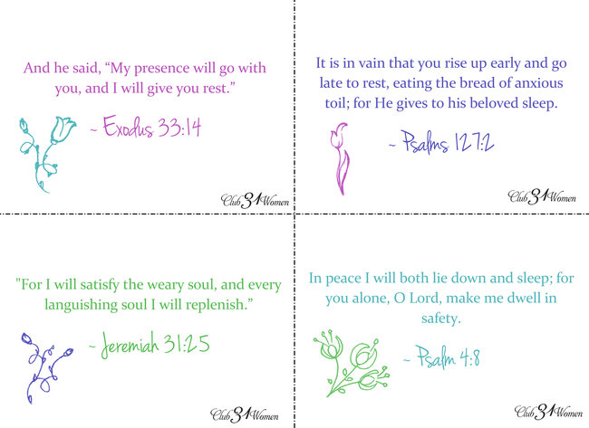 8 Scripture Cards for When You're Needing Rest & Refreshment Part 2