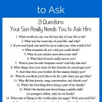 FREE Printable: 21 Questions Your Son Really Needs You to Ask Him