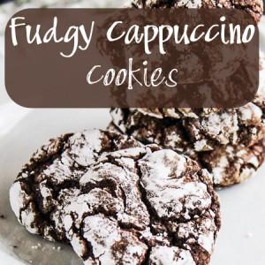Fudgy Cappuccino Cookies