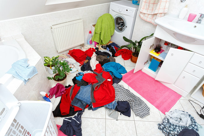 dirty clothes ready for the wash