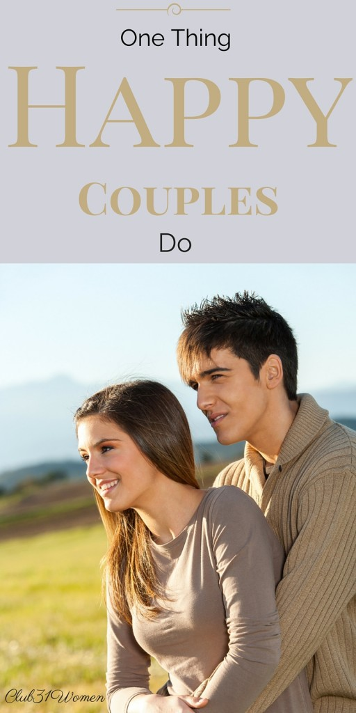 One Thing Happy Couples Do