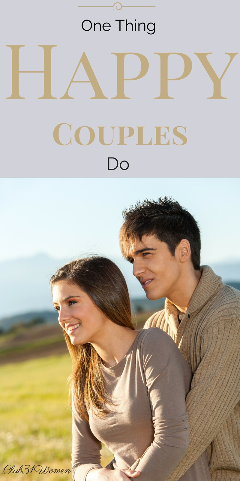 One Thing Happy Couples Do via @Club31Women