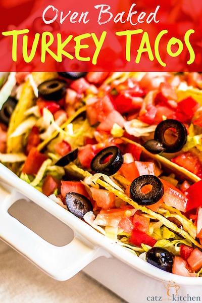 Oven Baked Turkey Tacos