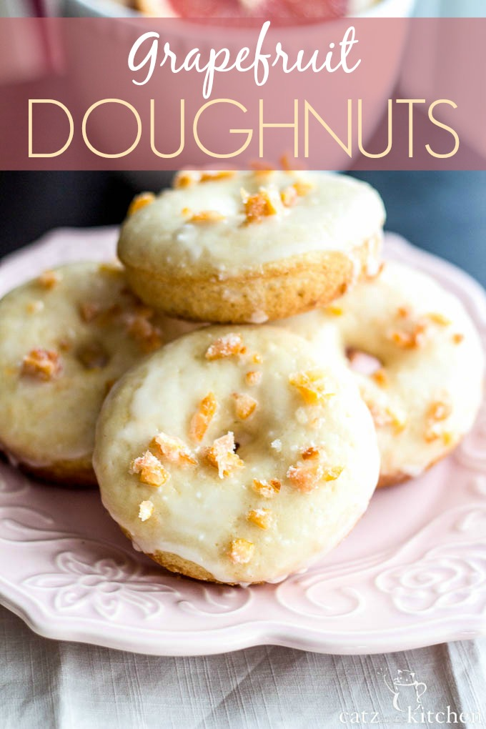 Grapefruit Buttermilk Donuts with Candied Zest | Club 31 Women | club31women.com #grapefruit