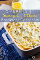 Overnight-sausage-egg-cheese-breakfast-casserole by Catz in the Kitchen