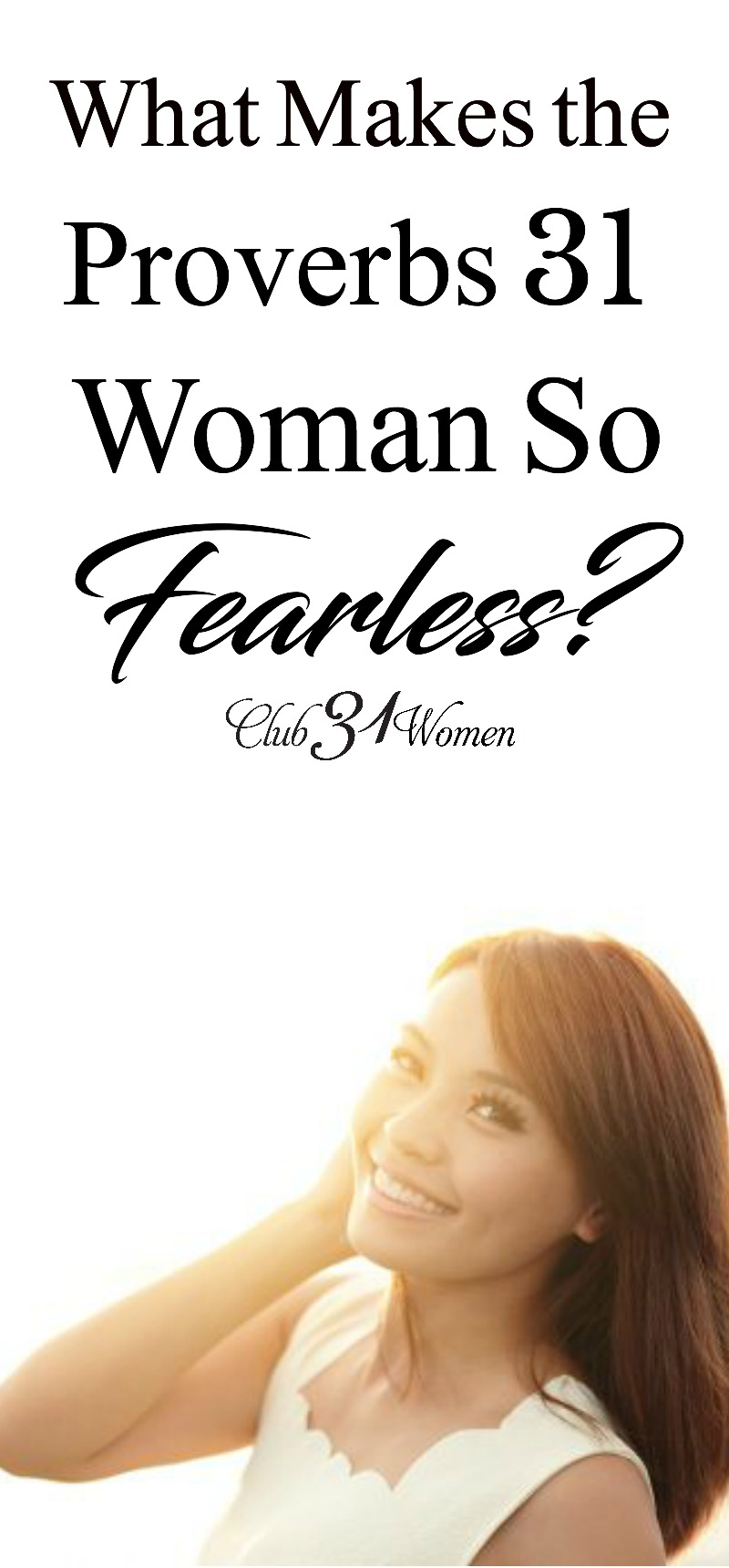 "How does the Proverbs31Woman ""laugh at the time to come""? When our world is falling apart? She knows the future is uncertain, yet here's why she's fearless! via @Club31Women"