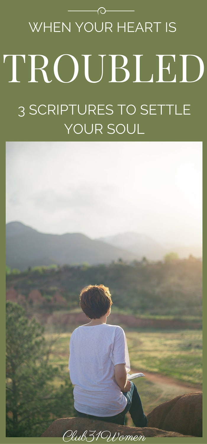 When Your Heart Is Troubled: 3 Scriptures to Settle Your Soul