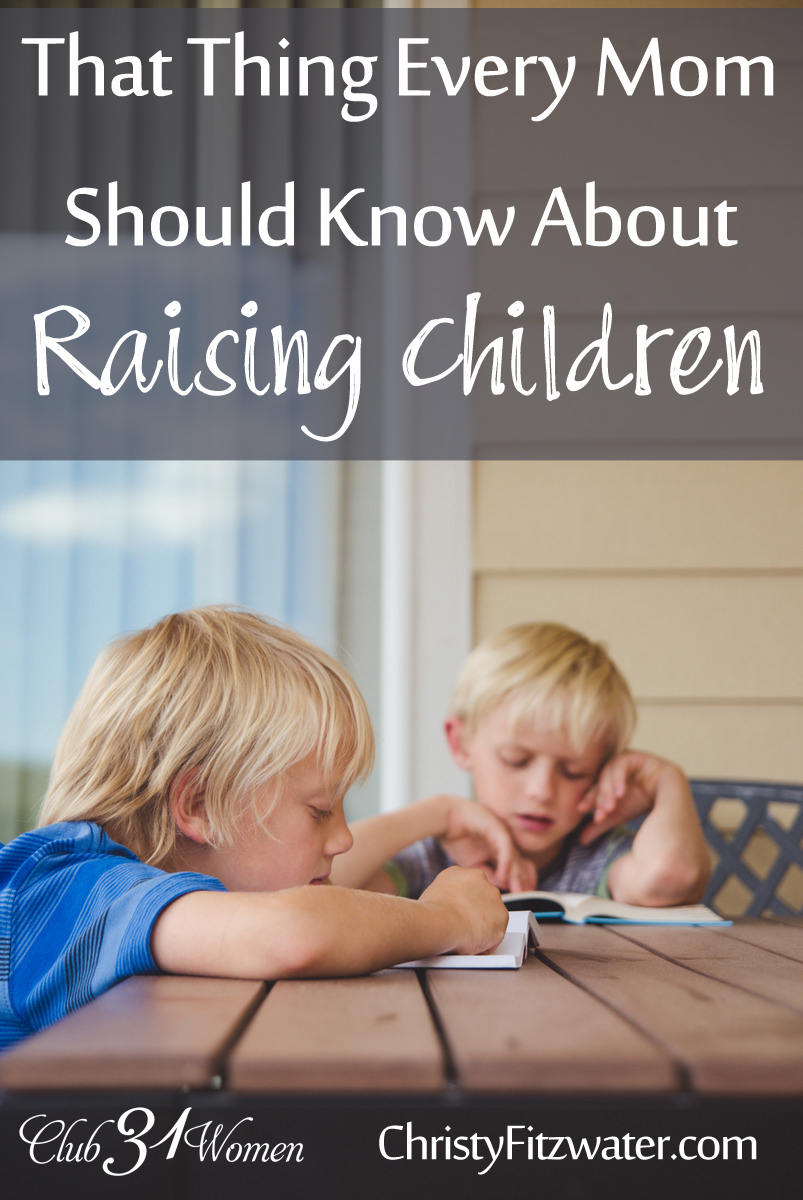 That Thing Every Mom Should Know About Raising Children {& What I Wish Someone Told Me 20 Years Ago}