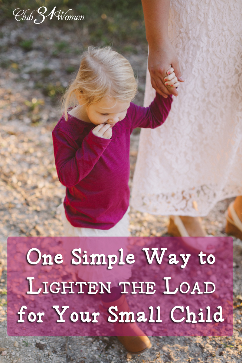One Simple Way to Lighten the Load for Your Small Child via @Club31Women