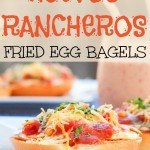 Huevos Rancheros Fried Egg Bagels {A Simple and Delicious Meal}