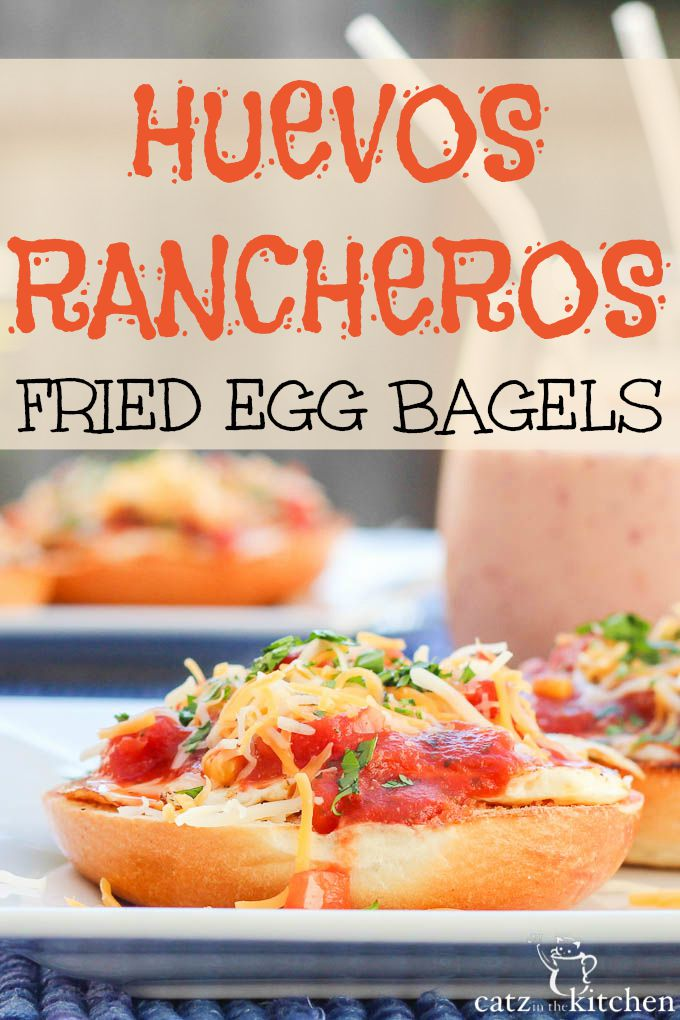 Huevos Rancheros Fried Egg Bagels