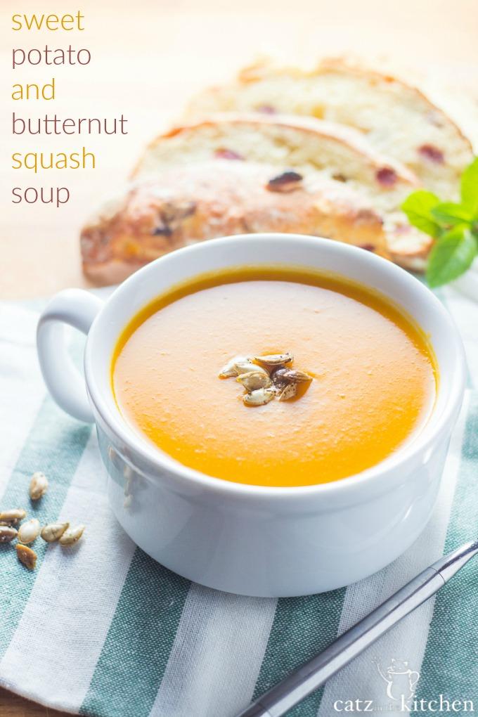 Sweet Potato & Butternut Squash Soup | Club 31 Women | club31women.com | #butternut #fall #soup