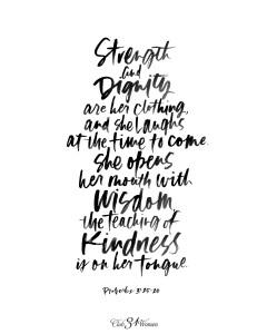 Proverbs 31:25,26