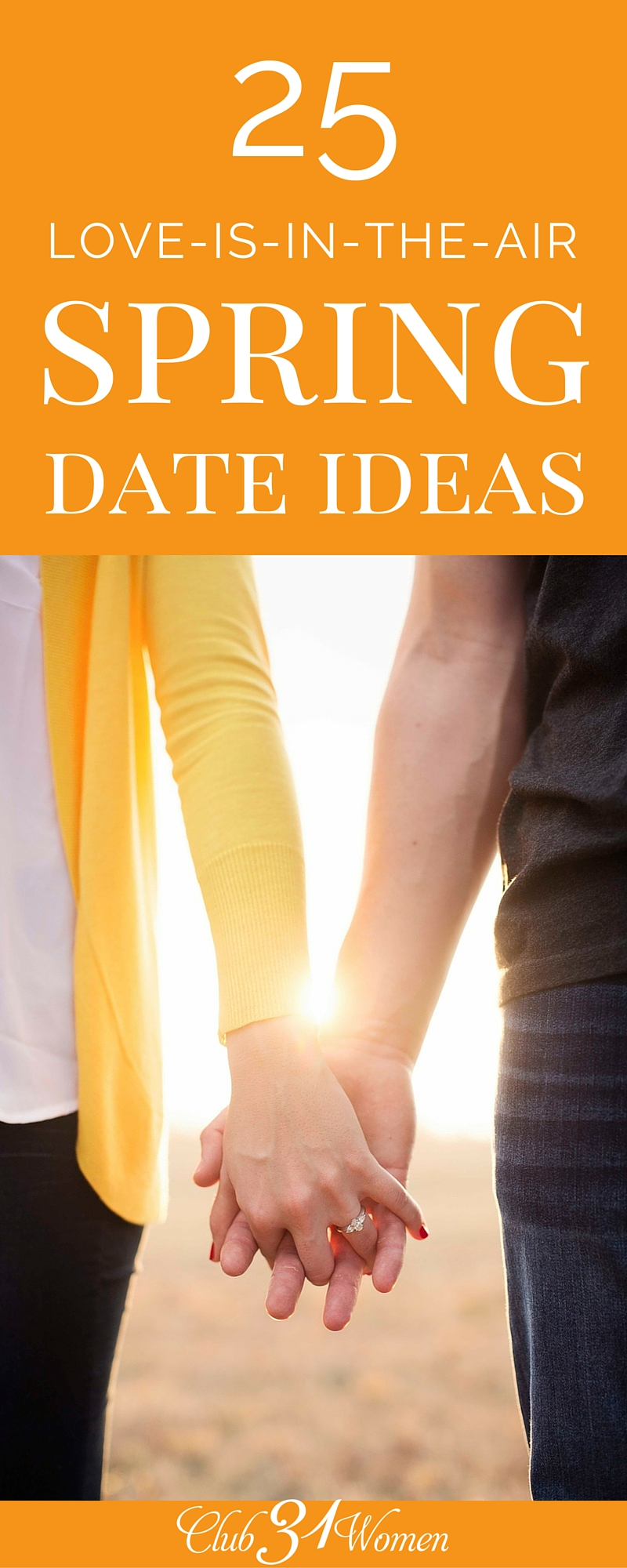 Ready to switch up seasons and do something new? Here are 25 favorite date ideas for married couples to make the most of spring - fun, fresh, and romantic! ~ Club31Women via @Club31Women