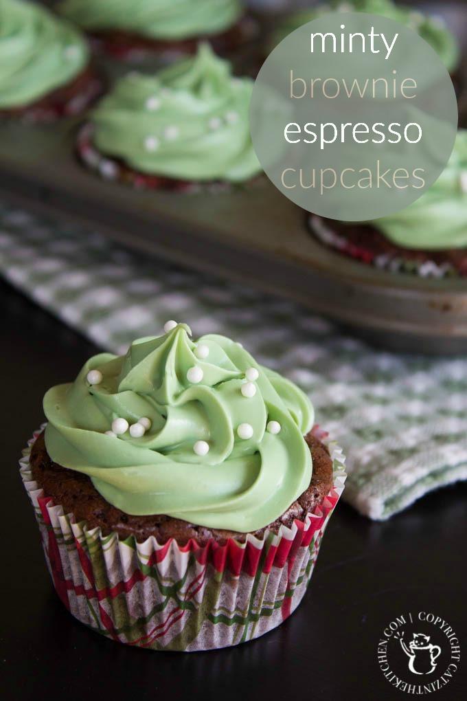 Minty Brownie Espresso Cupcakes PIN