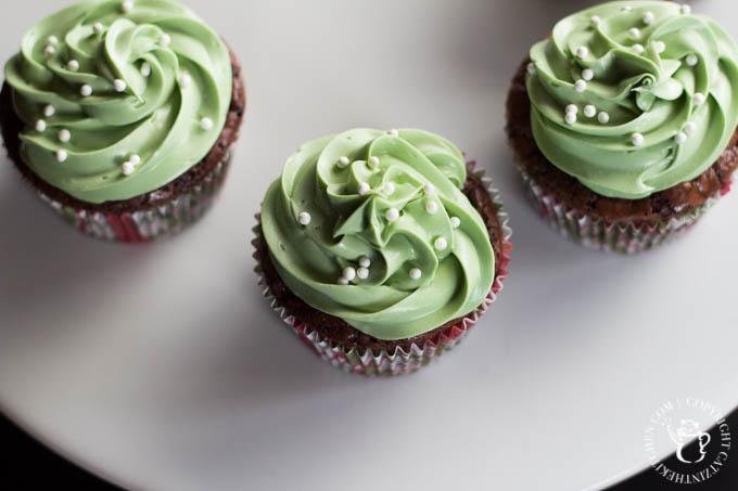 Minty Espresso Brownie Cupcakes-2