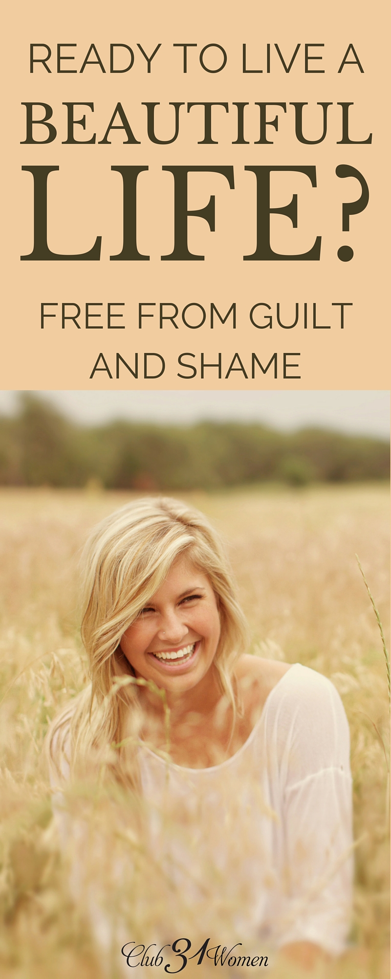 What if you could believe that God is doing a great work to make you perfect? Wouldn't that hope change everything? Here's how you can start living a beautiful life free of guilt and shame.... ~ Club31Women via @Club31Women