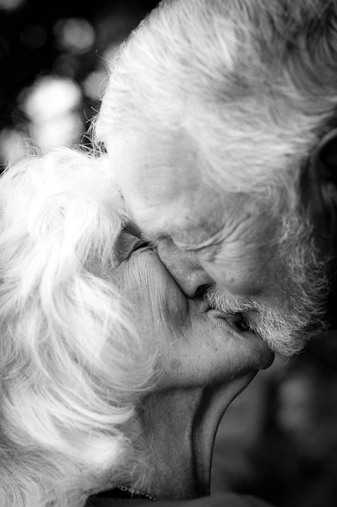 Dad and Mom Kissing