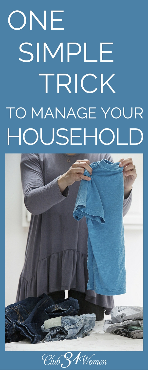 "As wives and mothers, we spend so much of our time trying to ""manage"" our time while we overlook this one simple trick.