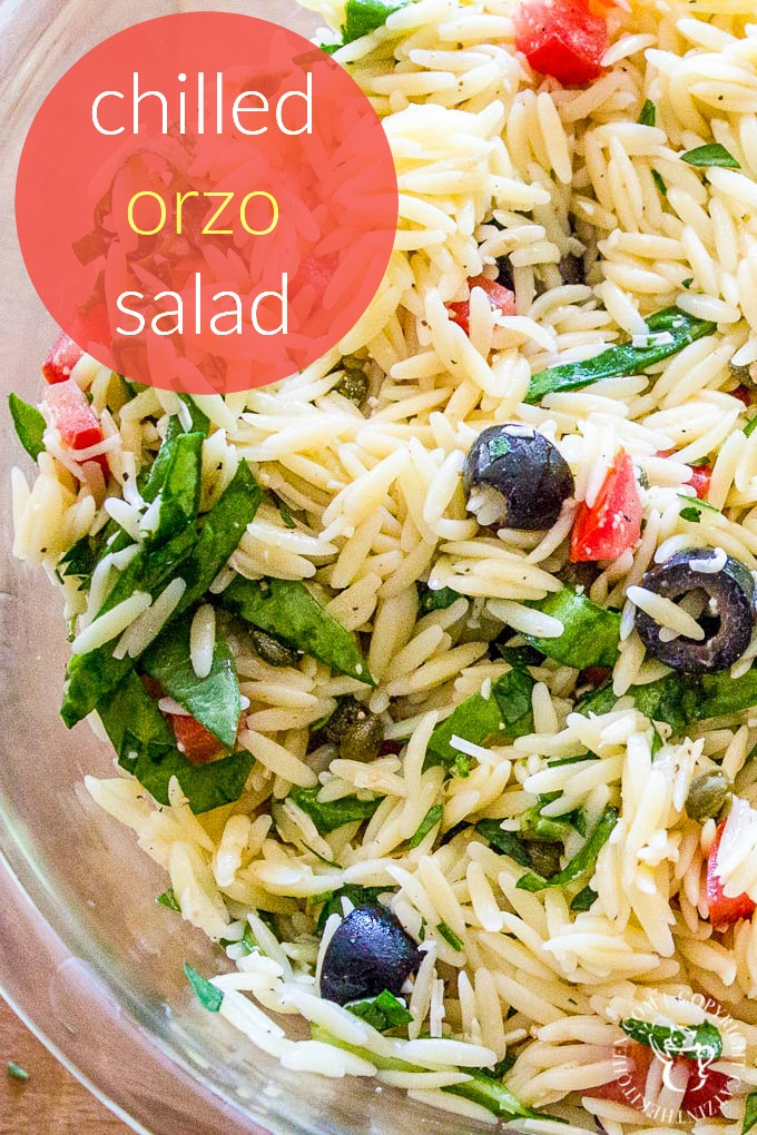 Making orzo salad is so simple and versatile, you can make it ahead of time for gatherings and focus on community and fellowship instead of cooking! via @Club31Women