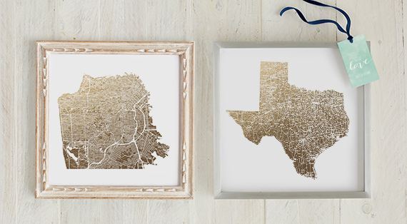 Minted Foil Maps