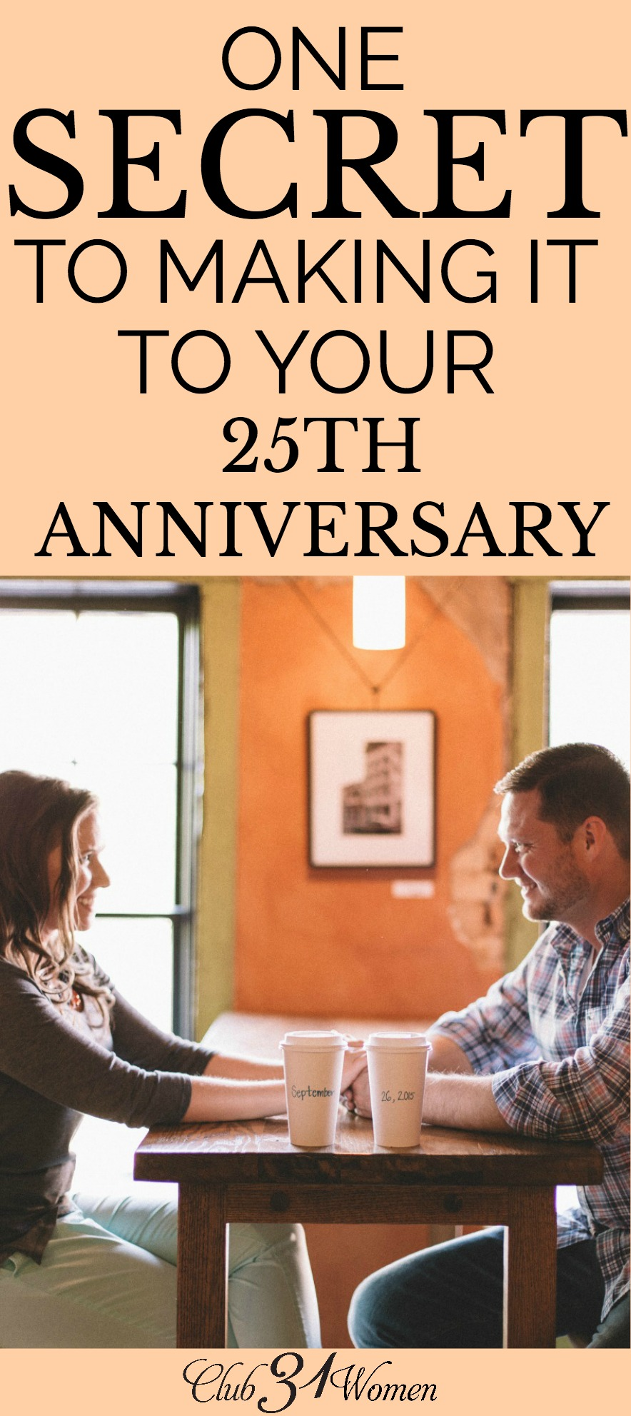 What is the secret to staying happily married for 25+ years? Is it going on regular date nights or sharing the same hobbies? The answer may surprise you. via @Club31Women