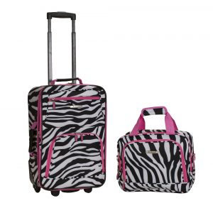 Rockland 2 Piece Luggage Set - Zebra