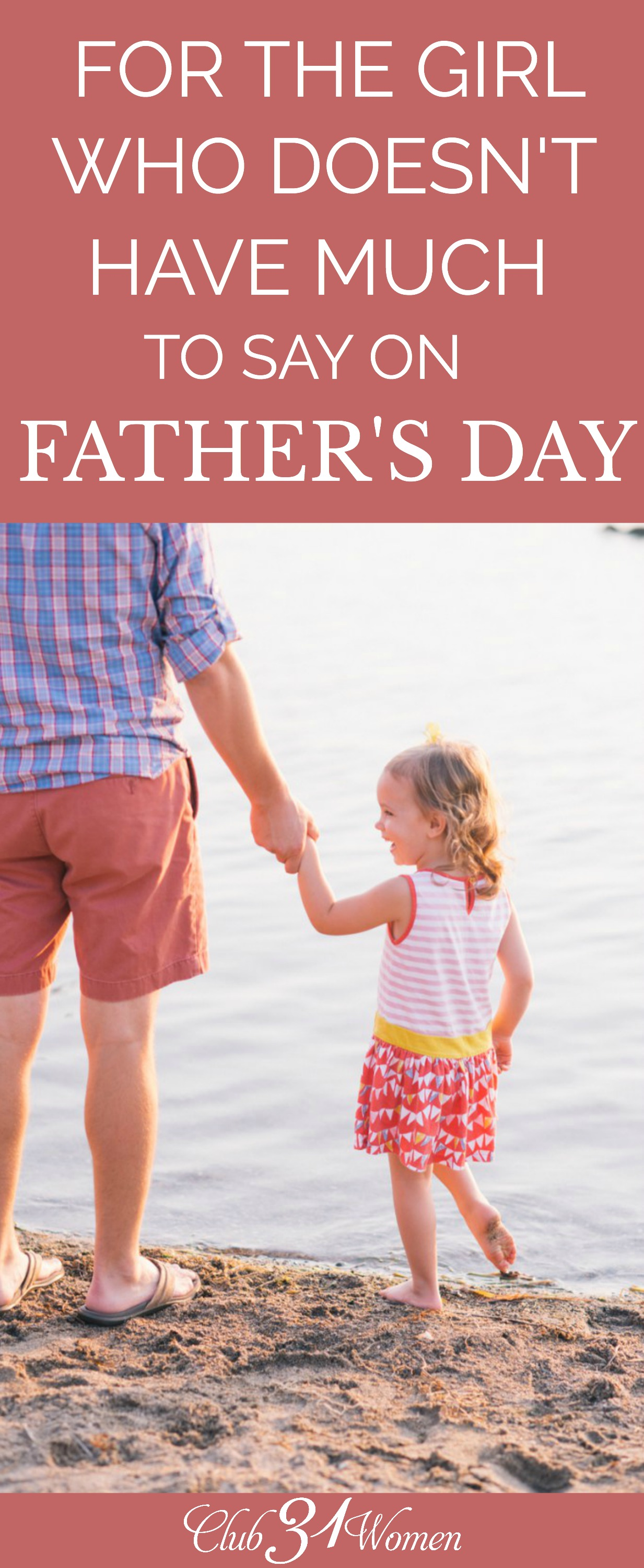 Maybe the most you can do on Father's Day is try and imagine what a kind and caring father would be like because that certainly wasn't your experience. Here's hope for you... via @Club31Women