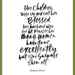 A Gorgeous Proverbs 31 Printable: Call Her Blessed