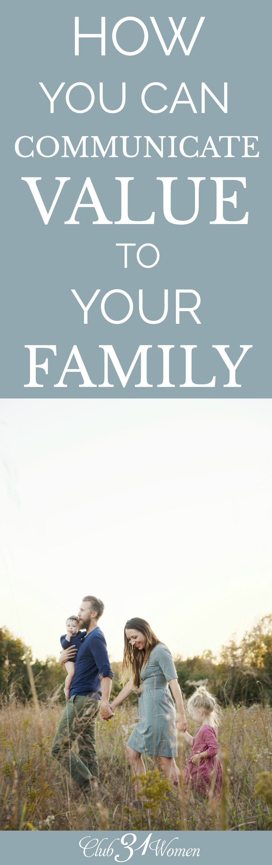 Do you know that God is for you and when you embrace that truth you can extend that value out to others, such as your family? Be a champion for your family! via @Club31Women