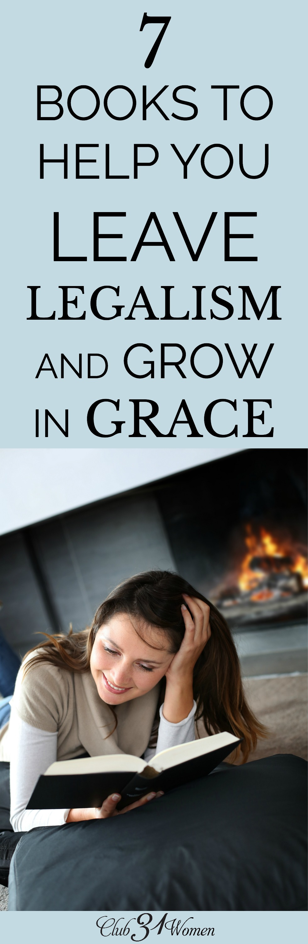 Do you feel trapped by the constant feeling of failure or never measuring up? These 7 books will offer some fresh perspective on the grace of God. via @Club31Women