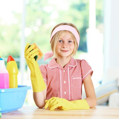 Getting Your Kids Happily Involved in Cleaning House
