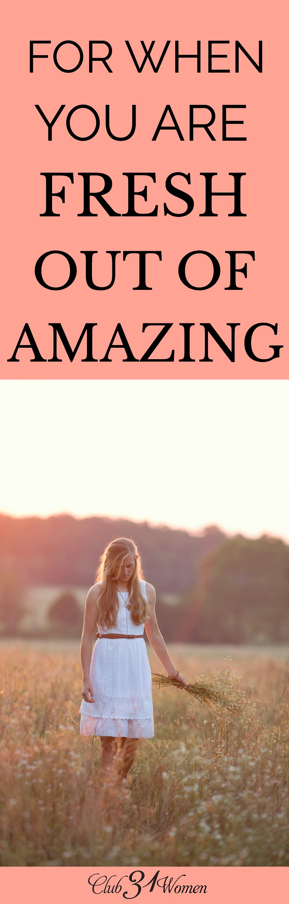 It's OK to admit when you've run out of amazing. There are times we need to raise that white flag and let the expectations of people go. via @Club31Women