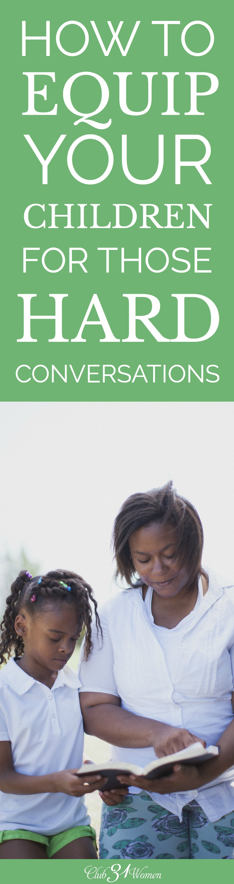 Do you tend to avoid discussing hard topics? Here are a few tips to help you approach the hard and ugly conversations with your children. via @Club31Women