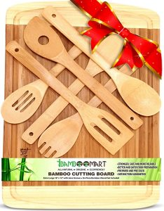 bamboo-cutting-board-and-utensils
