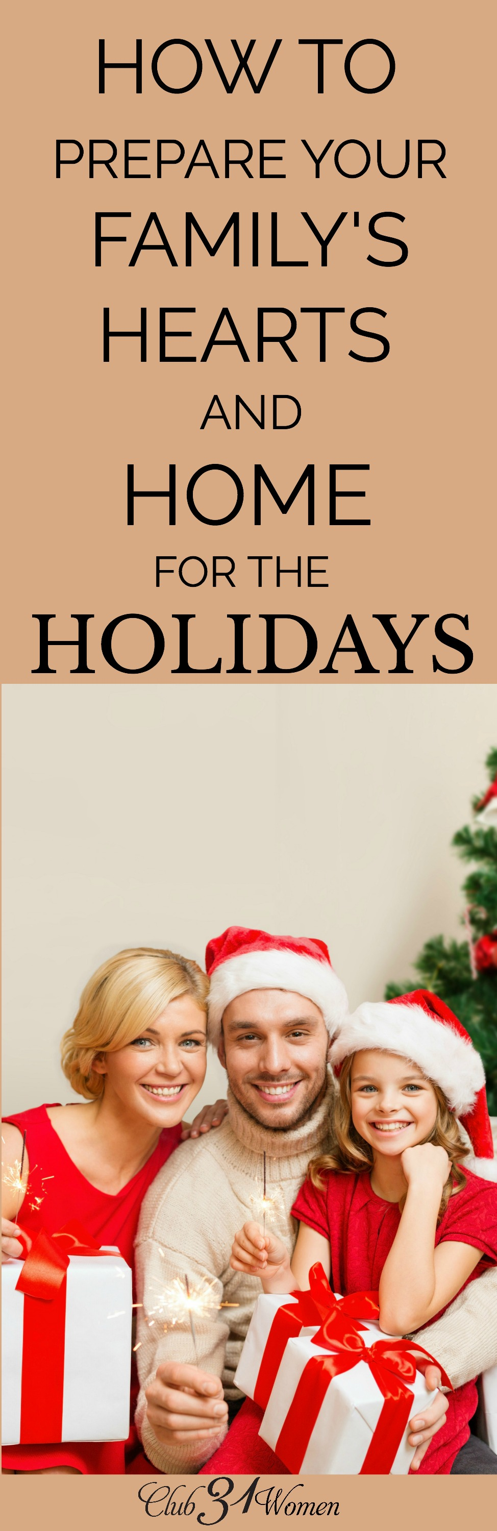 How can you help prepare your family's hearts and home for the coming holidays? Here are a few things we do to keep stress low and spirits high. via @Club31Women